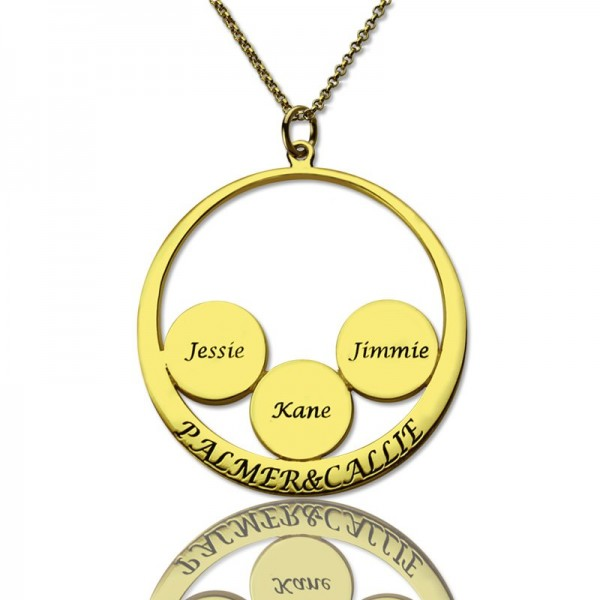 Mothers Family Name Pendant - Solid Gold