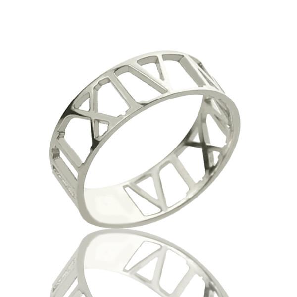 Custom 18CT Gold Roman Numerals Ring