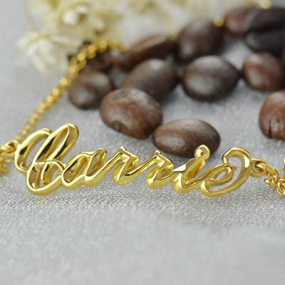 Custom Women's Name Bracelet - 18CT Gold