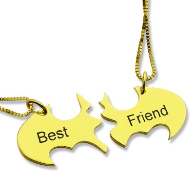 Personalised Puzzle Friend Name Necklace - 18CT Gold