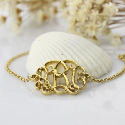 18CT Gold Celebrity Monogram Bracelet