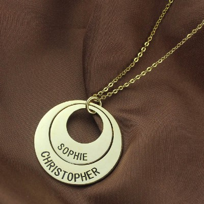 Engraved Ring - 18CT Gold Mother Necklace