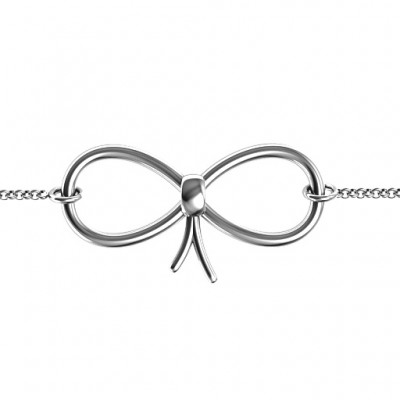 18CT White Gold Classic Bow Bracelet