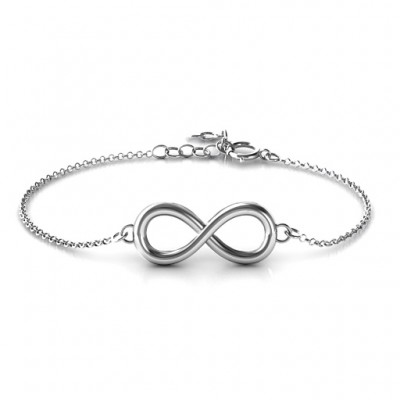18CT White Gold Classic Infinity Bracelet