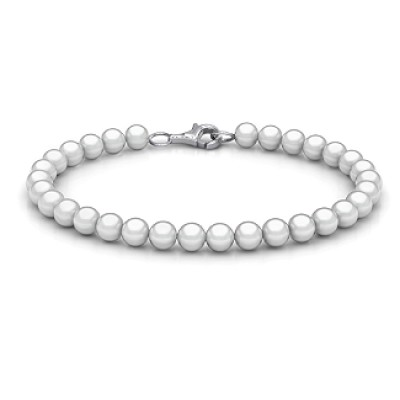18CT White Gold Freshwater Pearl Bracelet with Clasp