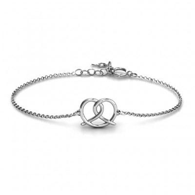 18CT White Gold Love Knot Bracelet
