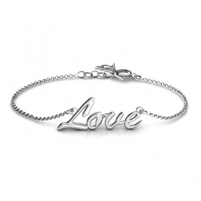 18CT White Gold Love Spell Bracelet