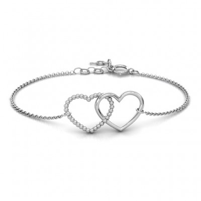 18CT White Gold Opposites AttraCT Bracelet
