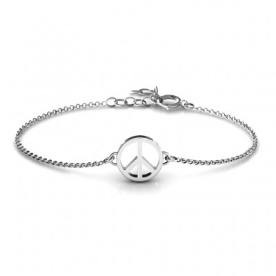 18CT White Gold Shanti Peace Bracelet