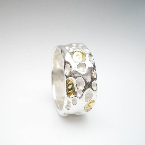 CoralAnd Solid Gold Ring