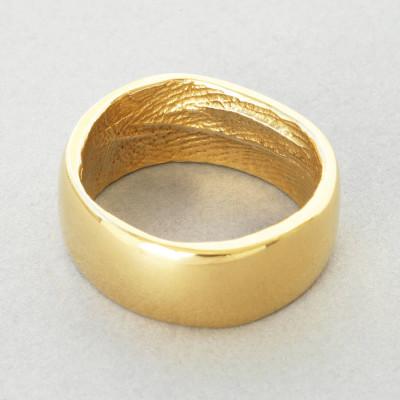 18CT Yellow Gold Bespoke Fingerprint Ring