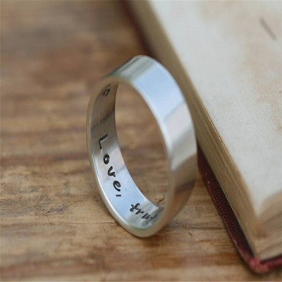 Pure And Simple Mens Solid White Gold Ring