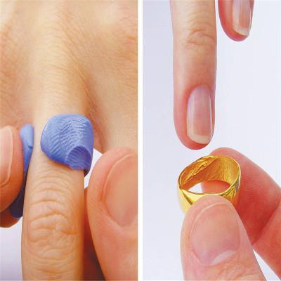 18CT Rose Gold Bespoke Fingerprint Wedding Ring