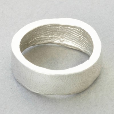 18CT White Gold Bespoke Fingerprint Ring