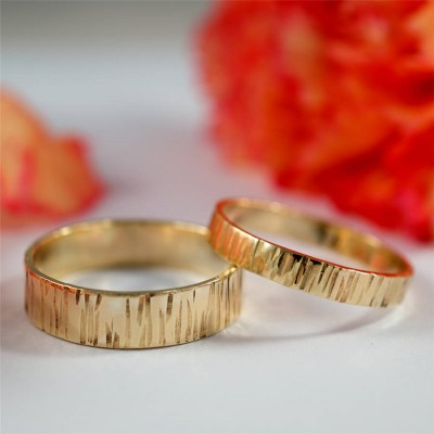 Bark EffeCT Rings In 18CT Yellow Gold