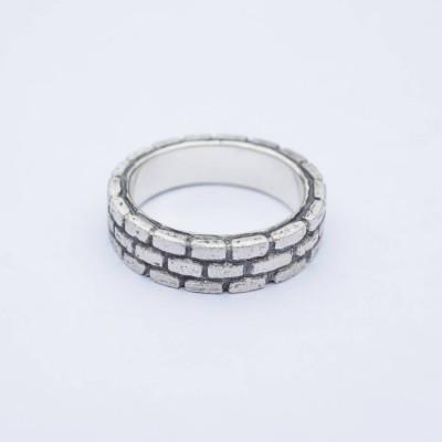 BrickSolid White Gold Ring