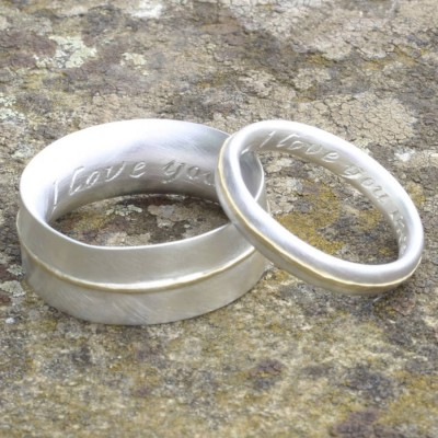 Chunky Ring With 18CT White Gold Detail