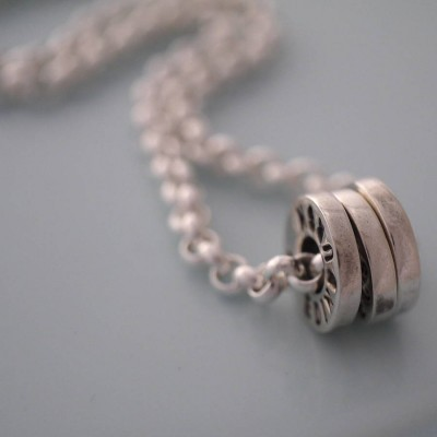 Solid Gold Chunky Washer Name Necklace