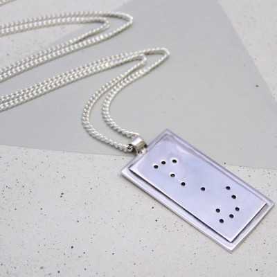 18CT White Gold Constellation Necklace