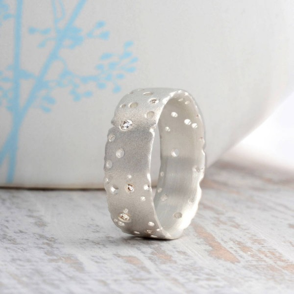 Diamond 18CT White Solid Gold Ring