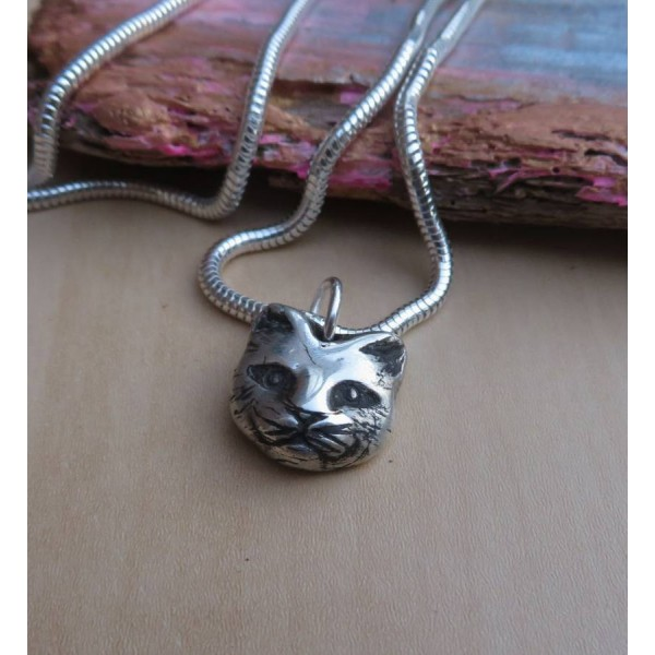 Solid Gold Soul Cat Necklace