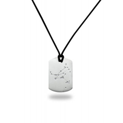 Solid White Gold Constellation Dogtag, Myths From The Gods