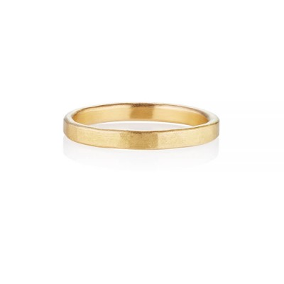 Arturo Hammered Wedding Ring For Men In Fairtrade Gold