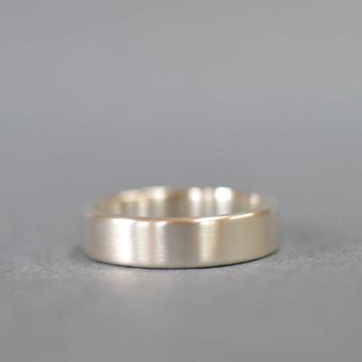 Gold Handmade Rectangular Wedding Ring