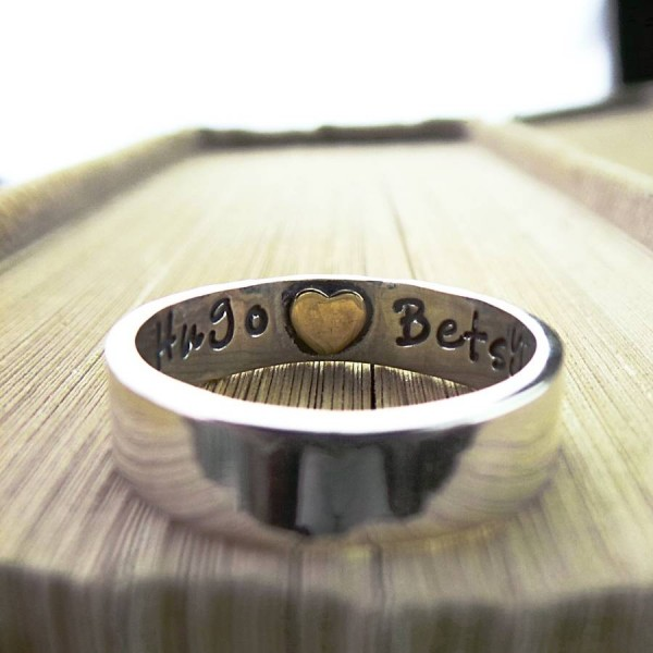 Heart Imprint Solid Gold Ring