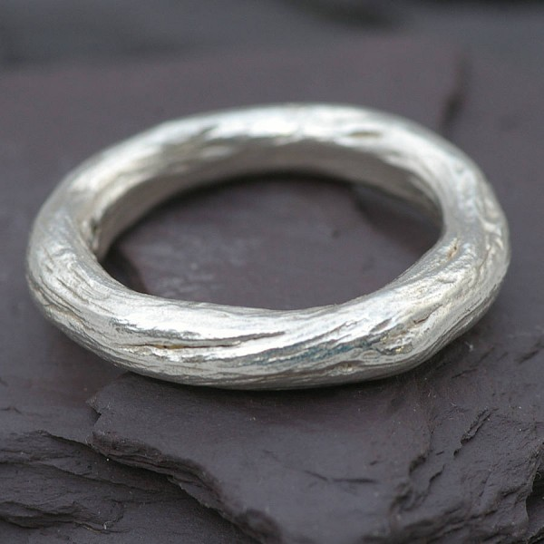 GentsRose Root Solid Gold Ring