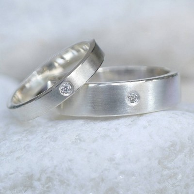 His And Hers Wedding Solid Gold Rings