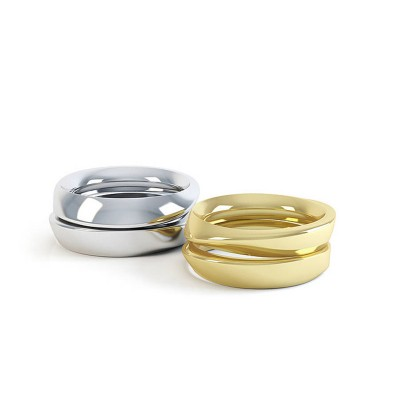 Eternal Twist Solid Gold Ring