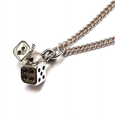Solid Gold Lucky Dice Necklace