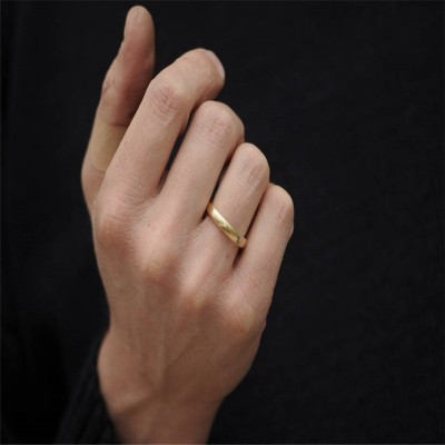 Mans Gold Wedding Band