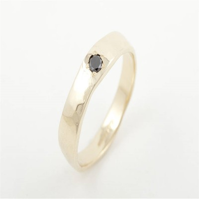 Men Rough Solid Gold Ring