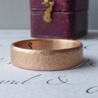 Mars Mens Fairtrade 18CT Rose Gold Wedding Ring