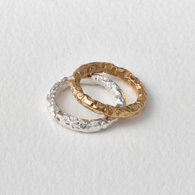 Meteorite 18CT Solid Gold Ring