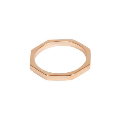 Octagon Bolt Solid Gold Ring