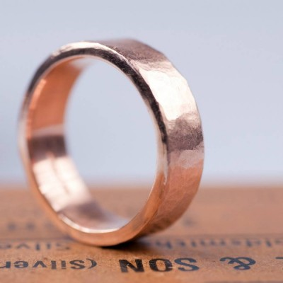 Organic 18CT Gold Mens Ring