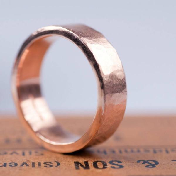 Organic 18CT Gold Mens Ring