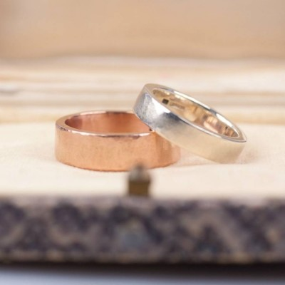 Organic Wide 18CT Solid Gold Ring
