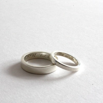 Pair Of Solid Gold Rings, Siver Bands