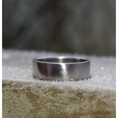 18CT White Gold Wedding Band