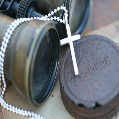 Solid Gold Love And ProteCT Cross Mens Chain