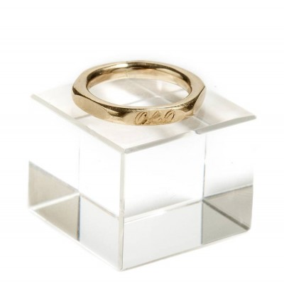 Hexagonal 18CT Solid Gold Ring