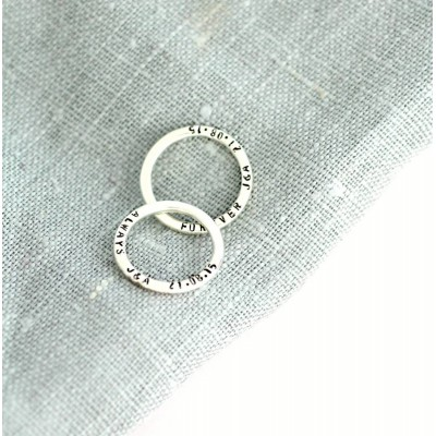Message Solid White Gold Ring