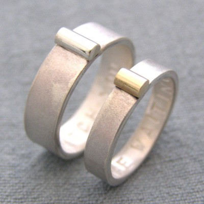 And Gold His And Hers Rings