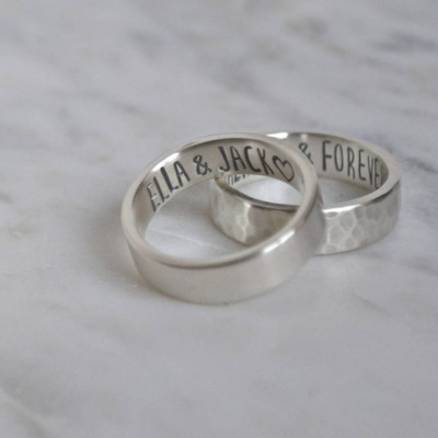 Secret Message Solid White Gold Ring