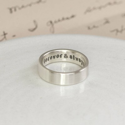 Hidden Message Solid Gold Ring