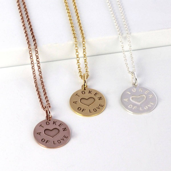And Gold Love Token Pendant